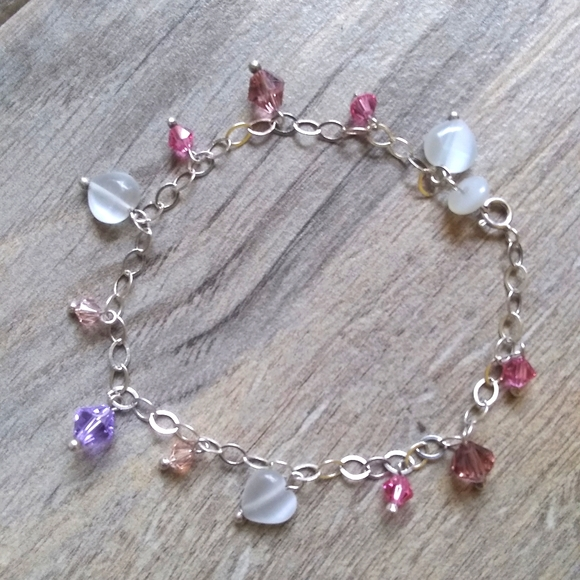 Sterling silver charm bracelet for girls